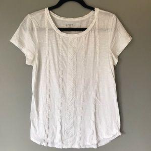 Loft white shirt size small